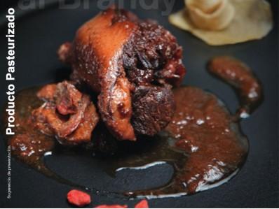 Pato con salsa de ciruelas al brandy